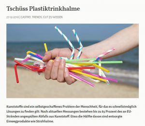 Tschüss Plastiktrinkhalme - Greentable Magazin