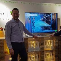 Auf der Leonardo Hausmesse: Familienbetrieb ivb bröcker, die ökologische Reinigungsmittel vorstellten
