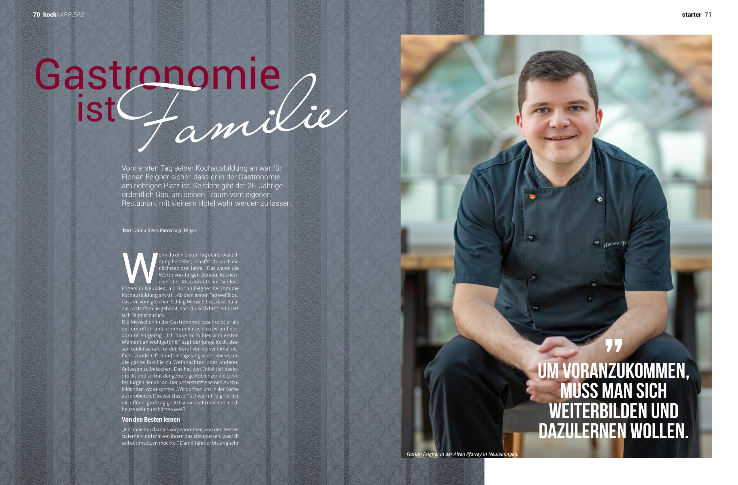 Für Florian Felgner ist Gastronomie Familie